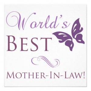 World's Best Mother-In-Law Custom Invite from Zazzle.com