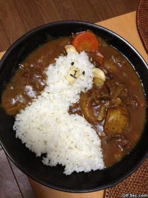 Funny Pictures – Llama curry rice