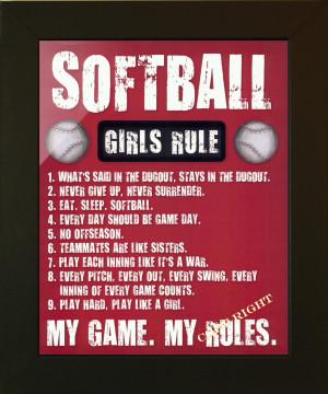 SOFTBALL GIRLS RULE