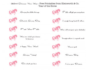 Pick up the Free Printable Fortunes to add to your cookies on ...