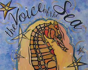 Blue Sea Seahorse Art Print - Sea I nspired Decor - Sea Creature Image ...