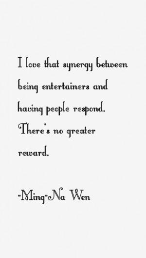 Ming Na Wen Quotes amp Sayings