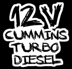 Truck Tee's › Portfolio › 12 V cummins turbo diesel
