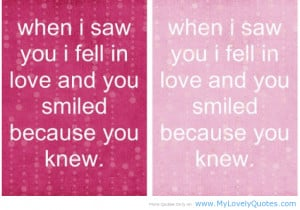 When i saw you i feel in love – smiley quotes for April fools 2013