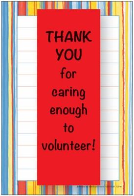 NP46V - Stripes Volunteer Notepad