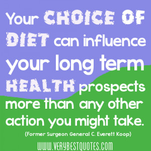 Your Choice Of Diet Can Influence Your Long Term Health Prospects More ...