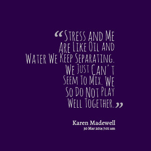 Drama Facebook Quotes Quotes picture: stress and