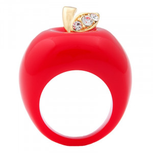 Apple Bottoms Cocktail Ring - Red