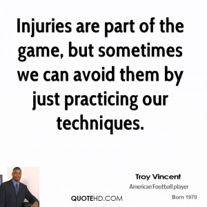 Injuries are part of the game, but sometimes we can avoid them by just ...