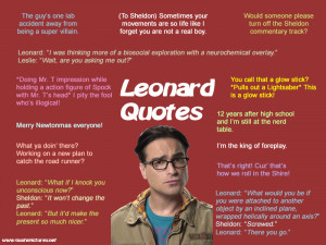 The Big Bang Theory – Leonard Quotes