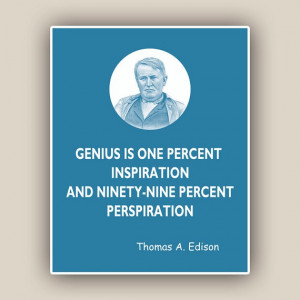Thomas Edison Print, quote print Wall art Quotes and sayings Print