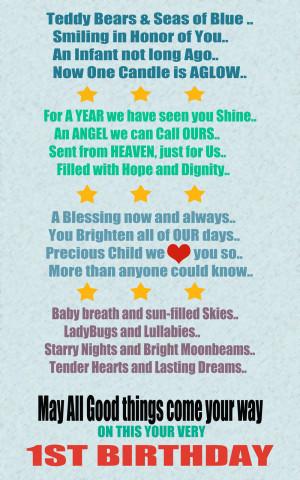 st birthday quotes quote photos baby boy 1st birthday poems