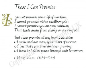 Promise Poem | These I Can Promise » Calligraphy in the UK 2011 ...