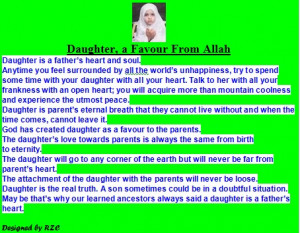 ... Quotes-about-daughters-Daughter-a-favour-from-Allah-Famous-Daughter