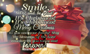 Christmas! Merry Christmas to you and your family! May the blessings ...