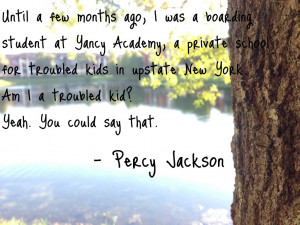 Percy Jackson Quote #1 by MoonlightMistress1