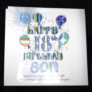 18th birthday quotes for son Son 18th Birthday Card