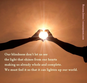 Inspirational quote: Blindness