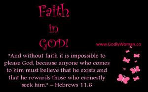 Faith In God.....