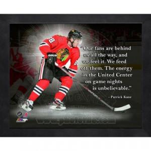 ... Kane Chicago Blackhawks 16x20 Black Wood Framed Pro Quotes Photo #2