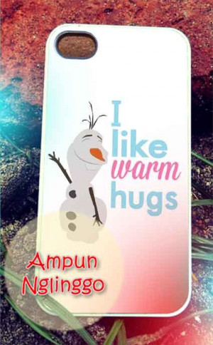 Olaf frozen quotes warm hug iPhone 4/4s/5 Case by AmpunNglinggo, $15 ...
