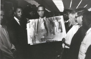 Malcolm X after the LAPD murder of Nation of Islam member Ronald ...