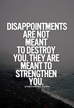 Disappointments vs. Hope and Strength