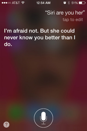 ... and trying to have an awkward rebound relationship with his iPhone