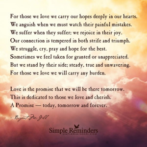 Dedication to those we love and cherish