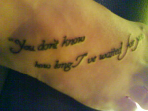 notebook quotes tattoos quote tattoo and the notebook quote ...