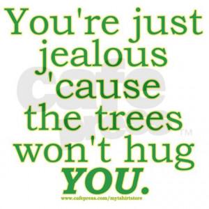 awareness postcards funny tree hugger joke postcards package of 8
