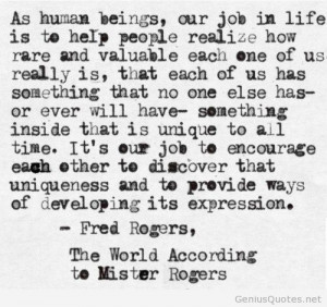 Fred Rogers quotes on top