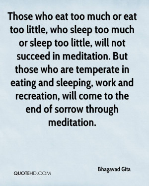 Those who eat too much or eat too little who sleep too much or sleep ...