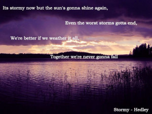 Hedley - Stormy - Lyrics