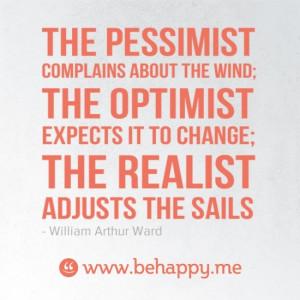 quotes: pessimist vs optimist vs realist