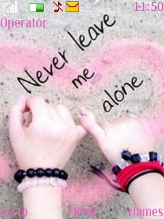 Never Leave Me Application