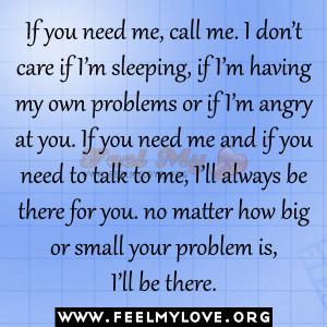If you need me, call me
