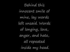 It's amazing what a little innocent smile can hide. It's so much ...