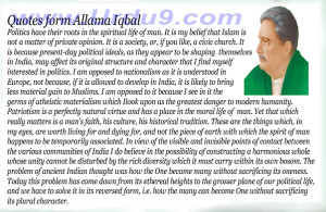 Quotes Form by Allama Iqbal On Islam (Islam)