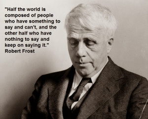 ... Robert Frost. She shares her thoughts on Robert Frost as 'A 'Poet of