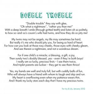 Double Trouble Cousin Poems
