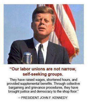 our labor unions are not narrow, self-seeking groups...