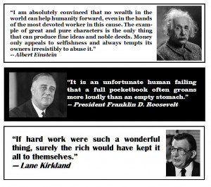 Today's Quotes: Wealth, an Empty Stomach and Hard Work