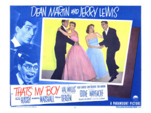 ... poster - That's My Boy - 1951 - starring Dean Martin and Jerry Lewis