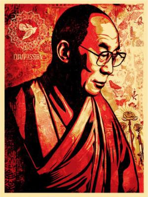 Shepard Fairey 'Dalai Lama' Print