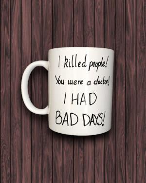 Hand painted Sherlock mug John Watson/ sherlock quote