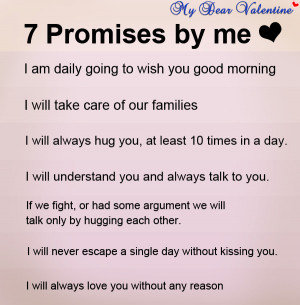 love you quotes - 7 promises of Love