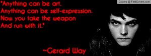 Gerard Way Quote My Chemical Romance cover