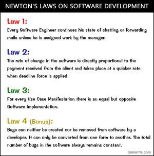 Newton's Laws On Software Development