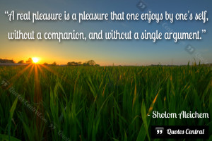 real pleasure is…